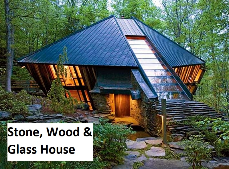 Stone, Wood and Glass House