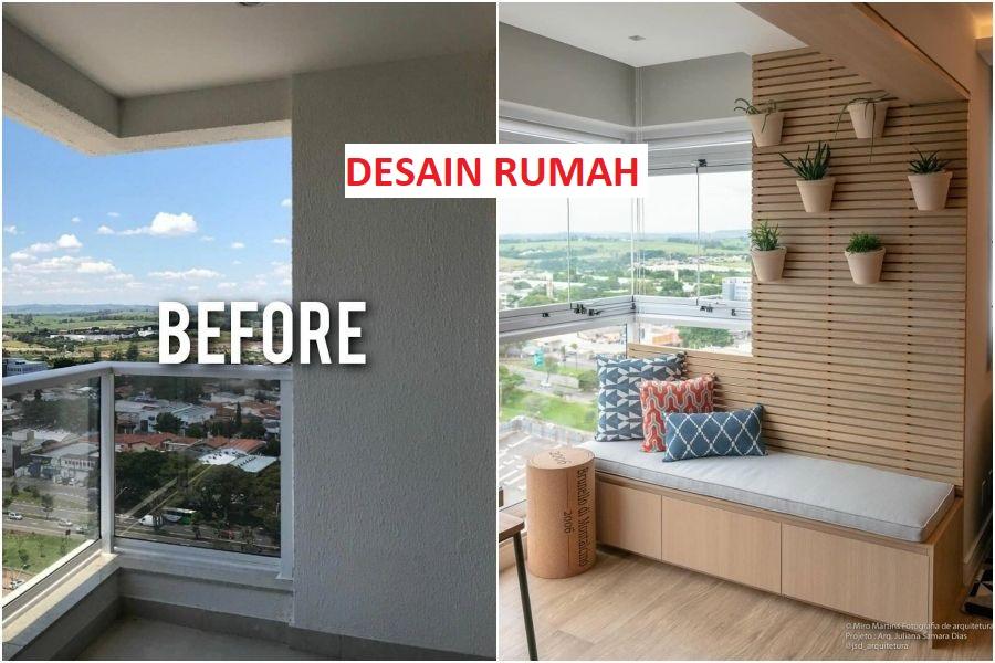 Before - After Balkon Rumah