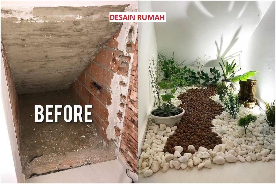 Before - After Ruangan Kecil Dibawah Tangga