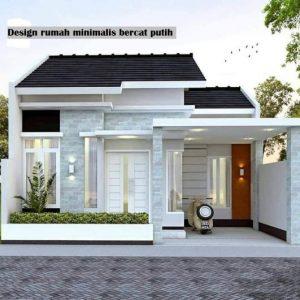 Desain rumah minimalis bercat putih