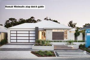 Rumah minimalis atap dutch gable