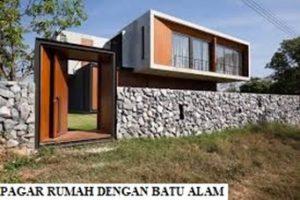Pagar Rumah dengan Batu Alam